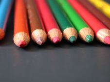 Free Colored Pencils, Dead On! Royalty Free Stock Photo - 3565