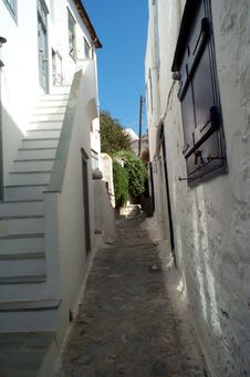 Free Alley In A Mediterranean Village Stock Photo - 400