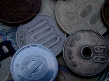 Free Japanese Coins Stock Photography - 7902