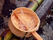 Free Bamboo Ladle And Splash Stock Images - 8824