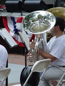 Free Tuba Player Royalty Free Stock Image - 9826