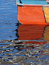 Free Orange Rowboat Stock Image - 12001
