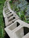 Free Row Of Stones Patio Bricks Royalty Free Stock Photography - 19977