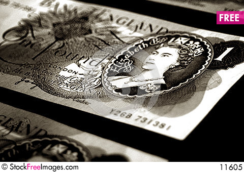 Free Old British Banknotes - Sepia Royalty Free Stock Photo - 11605