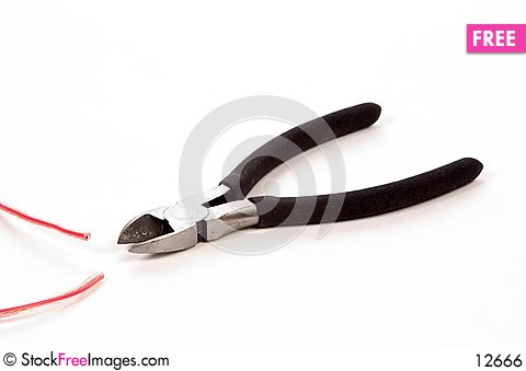 Free Side Cutters And Wire Royalty Free Stock Image - 12666