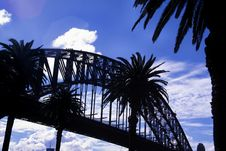 Free Harbour Bridge Silhouette Royalty Free Stock Photos - 11658