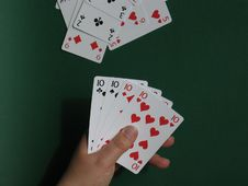 Free Hand With Cards I Royalty Free Stock Photos - 11988