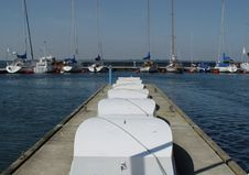 Pier In Yachting Club Royalty Free Stock Images