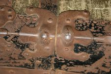 Rusted Hinge Stock Photography