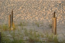 Free Two Fences In The Dunes Stock Photography - 16782
