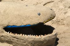 Sand Whale Stock Photography