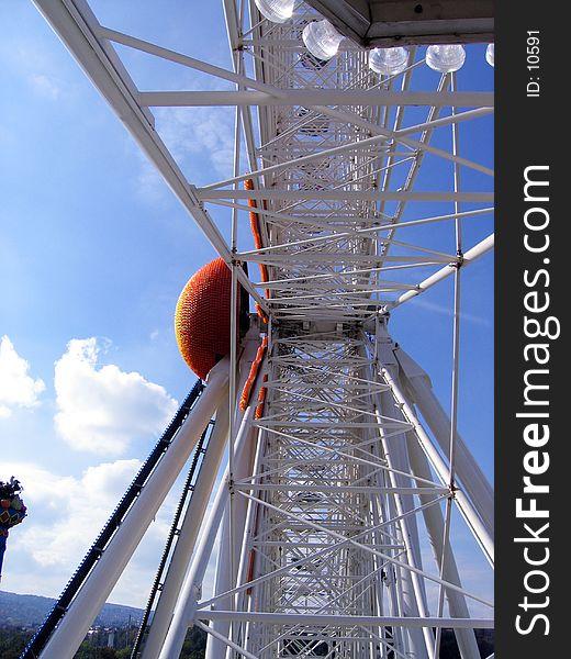 Inside giant wheel