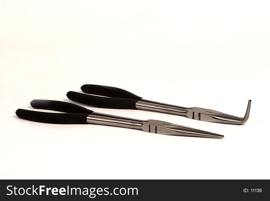 Long-necked needle-nosed pliers
