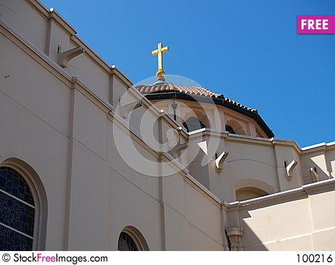 Free Basilica Dome And Cross Royalty Free Stock Image - 100216