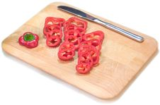 Free Sliced Red Pepper Stock Photo - 102260