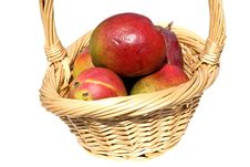 Free Basket Of Mangos Stock Photography - 107352