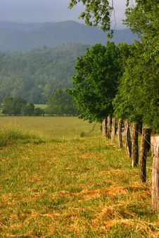 Free Fenceline Royalty Free Stock Image - 109216