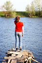 Free Girl And River Royalty Free Stock Photography - 1001107