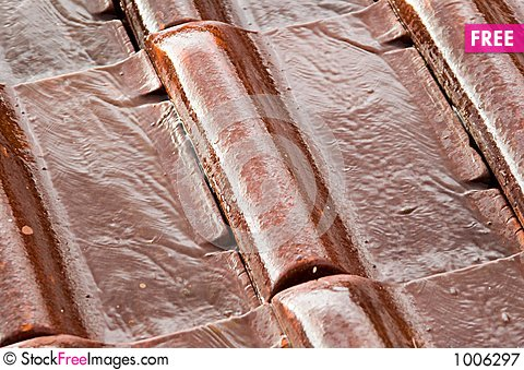 Free Wet Roofing Tiles (closeup) Royalty Free Stock Photography - 1006297