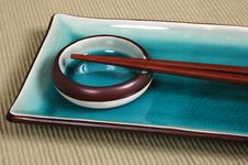 Free Plate, Dipping Bowl, With Chop Sticks Stock Photo - 1000030