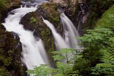 Free Sol Duc Fall From The Top Stock Photos - 1001303