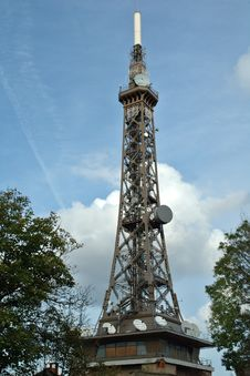 Telecommunication Tower : The Eiffel Tower S Little Sister Stock Image