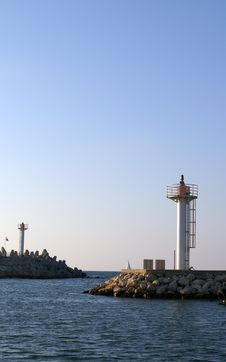 Free A Lighthouse In Herzlia Marina Royalty Free Stock Image - 1002246