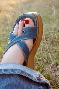 Free Woman Foot Royalty Free Stock Photography - 1002627