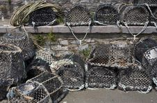 Free Lobster Pots Stacked On Top Of Each Other Stock Images - 1003134