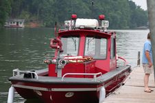 Fire Boat Royalty Free Stock Image
