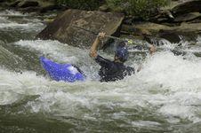 Free Whitewater Kayaker Stock Photography - 1003292