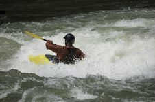 Free Whitewater Kayaker Stock Images - 1003314