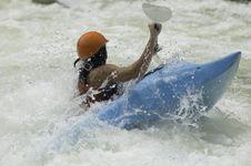 Free Whitewater Kayaker Stock Image - 1003321