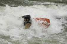 Free Whitewater Kayaker Stock Photo - 1003330