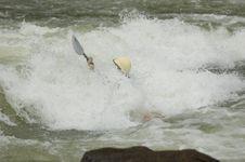 Free Whitewater Kayaker Stock Image - 1003351
