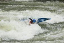 Free Whitewater Kayaker Royalty Free Stock Photo - 1003365
