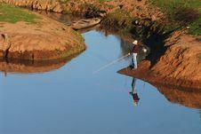 Free Fisherman And Reflex Stock Image - 1003811