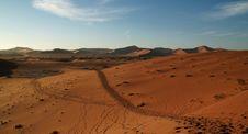 Free Track Through The Desert Landscape Royalty Free Stock Photo - 1005215