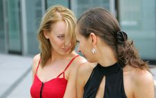 Free Two Girls Looking At Each Other Stock Image - 1005521