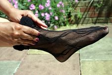 Free Foot  In Stockings Royalty Free Stock Photos - 1005868