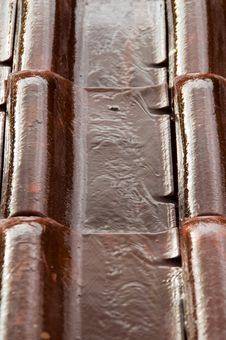 Wet Roofing Tiles (vertical) Royalty Free Stock Image