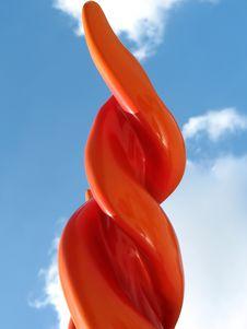 Red Spiral Columns Stock Image
