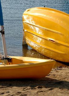 Free Two Yellow Dinghy S Stock Image - 1007071
