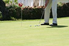 Golf Putting Green Royalty Free Stock Images