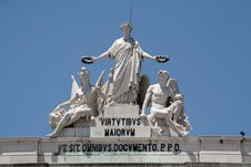 Central Lisbon Statue Detail Royalty Free Stock Images