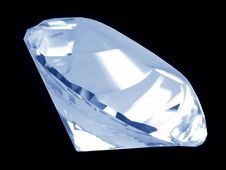 Free Blue Diamond Crystal (Side) Stock Photo - 1009490