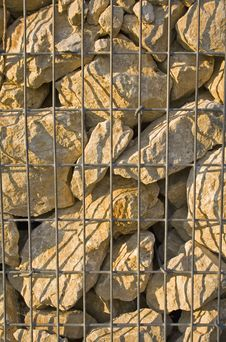 Free Stones In Cage Royalty Free Stock Image - 1009946