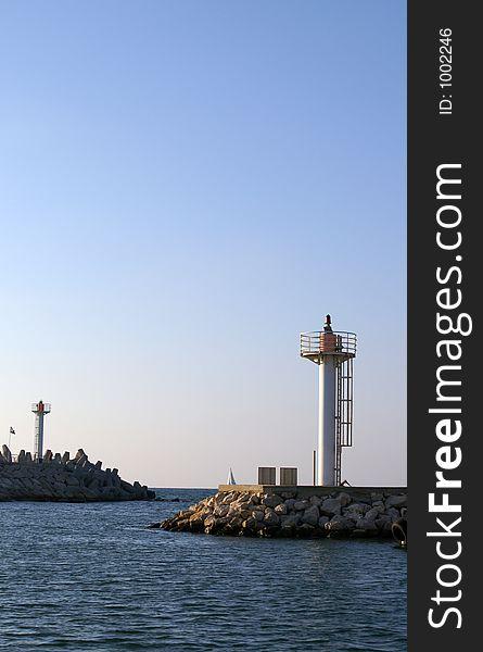 A lighthouse in Herzlia marina