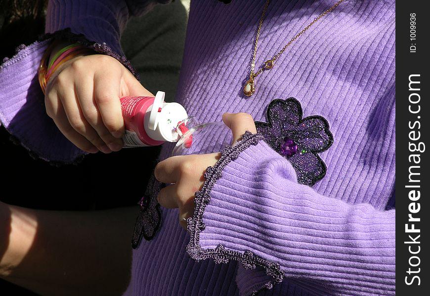 Child making ornament
