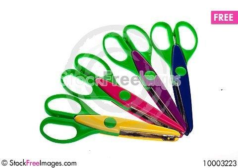 Free Colorful Plastic Scissors Stock Photos - 10003223